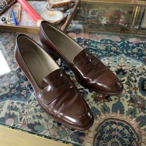 "VTG Joan & David 2"" Chunky Heel Loafers"